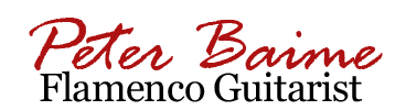 Peter Baime Flamenco Guitarist, Logo